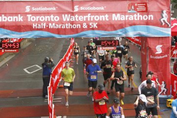2012 Waterfront Marathon Finish
