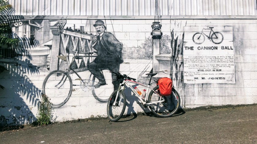 Cannonball 300 Mural in Thorold just off the Welland Canal
