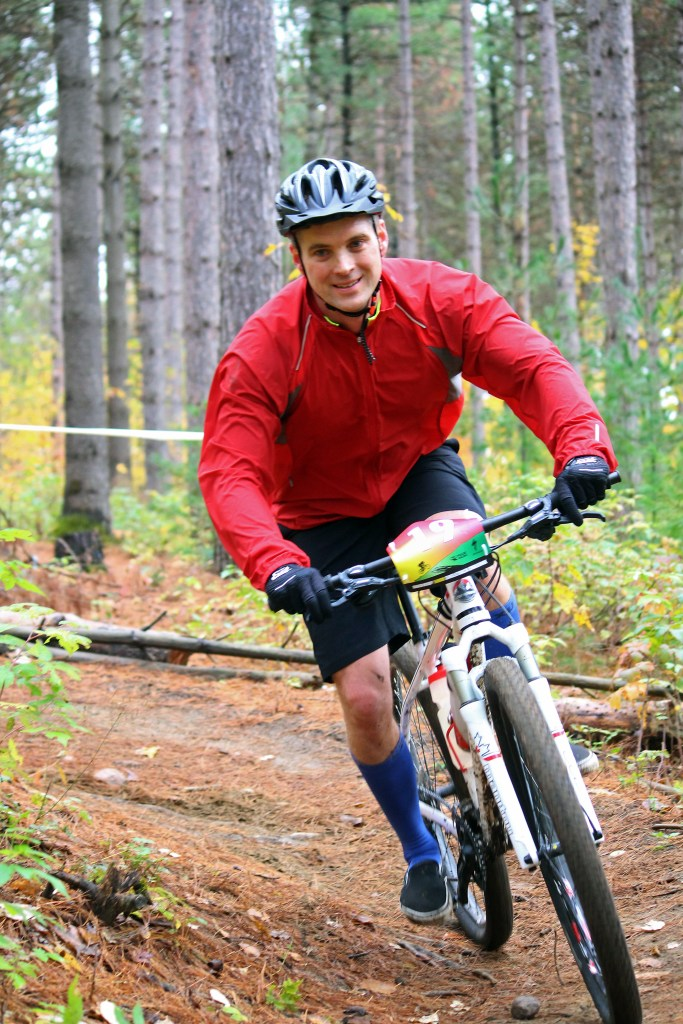 Highspeed cornering at the 2014 Hardwood SingleTrack Classic