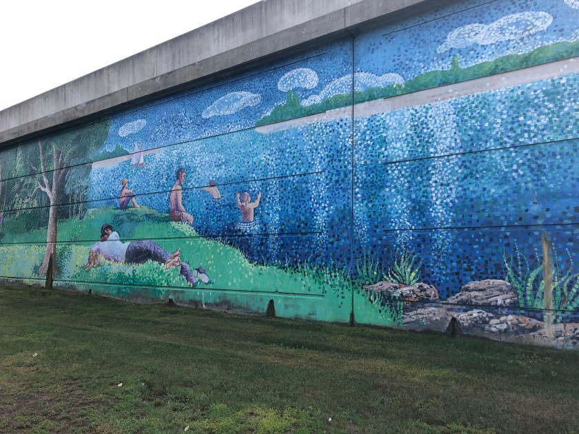 Murals at the 401 Bridge over Bathurst