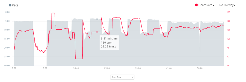 Wahoo TickR Chest HR Drops on Hard Intervals in the Cold