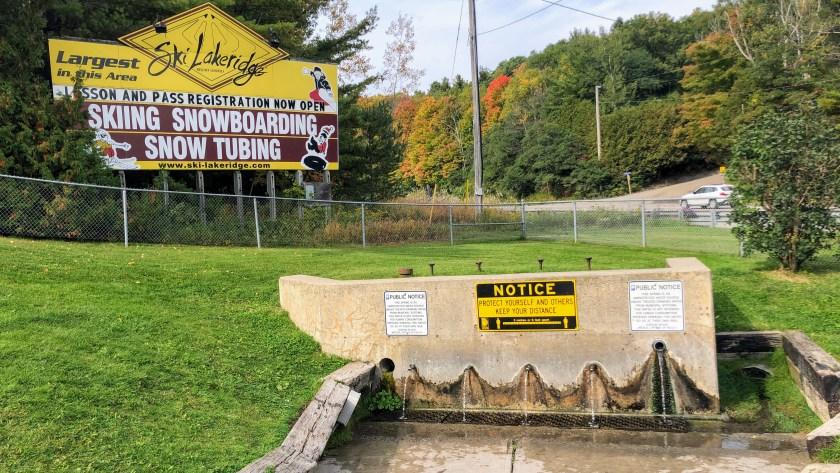 The natural springs at Chalk Lake Road and Lakeridge Road
