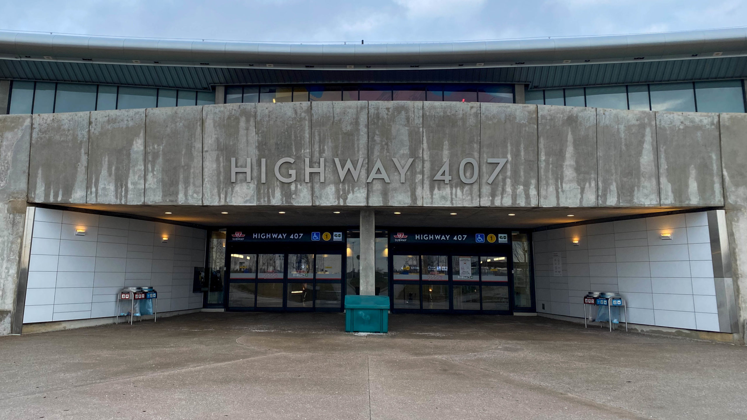 Highway 407 TTC Subway Entrance