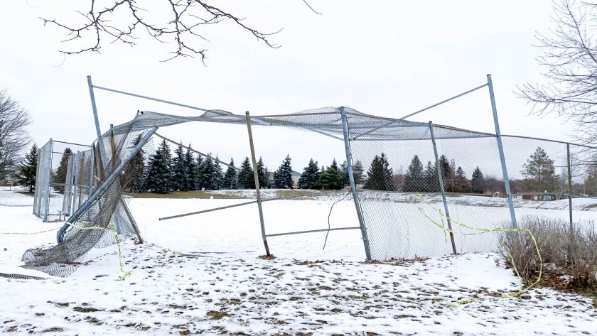 Destroyed Ball Diamond at Joseph Aaron Park