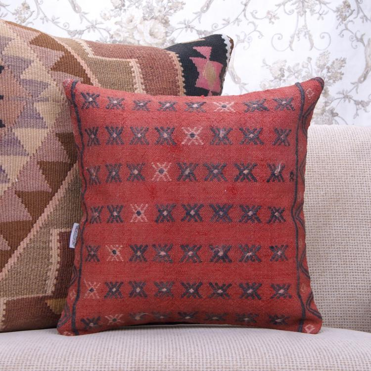 red decorative square throw pillows