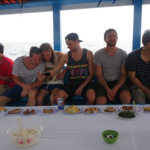 Delicious buffet lunch on the boat
