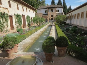 Garden in the Generalife, part of the Alhambra complex