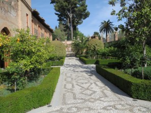 Outside San Francisco Chapel in the Alhambra, where Queen Isabella and her husband are burried