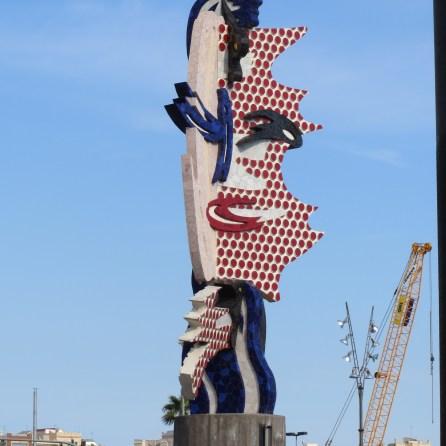 Crazy sculpture near dock