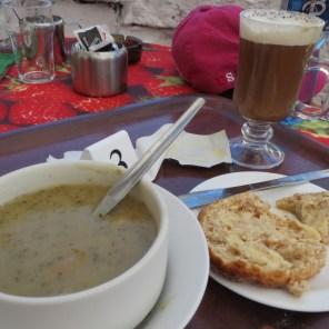 Aran Island soup and Irish whisky