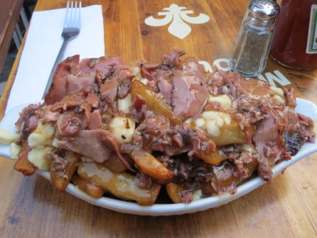 Poutine with smoked meats at Montreal Poutine in Old Montreal