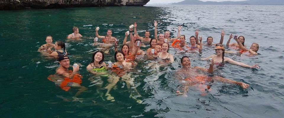 Group in Ao Nang sea