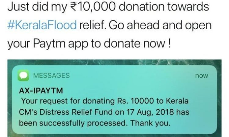 India's youngest billionaire slammed for donating ₹10,000 to Kerala flood victims