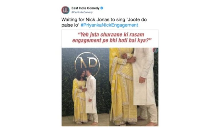 Nick is Nation's Jiju, tweets user on Priyanka-Nick's roka