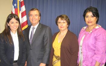 Photo caption: ANCA-WR Government Relations Director Lerna Kayserian Shirinian, ANCA-WR Chairwoman Aida Dimejian, Congressman Ed Royce, and ANCA Activist Sylvie Tertzakian.