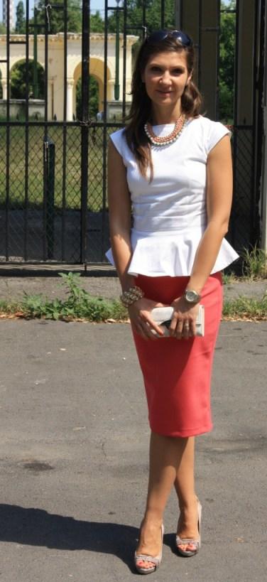 bluza peplum & fusta roz 2