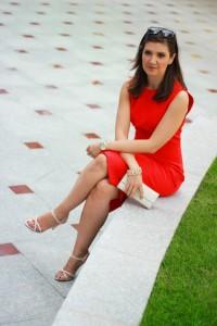tinuta office rochie rosie