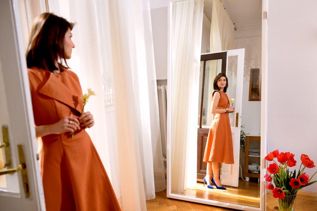 Rochie portocalie Chemistry