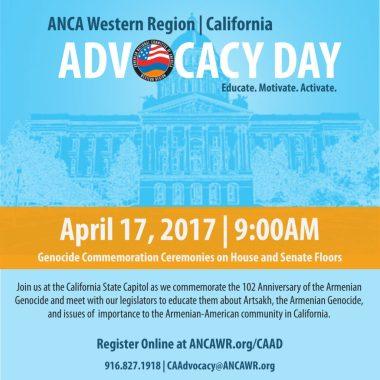 2017 ANCA-WR California Advocacy Day Graphic