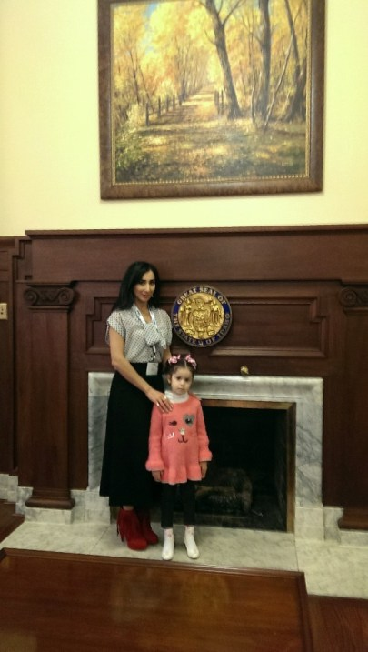 ANCA-Utah chair Liyah Babayan was assisted by her mother Tamara and daughter Angeli as she shared her story of being a refugee from Azerbaijan with Idaho legislators.