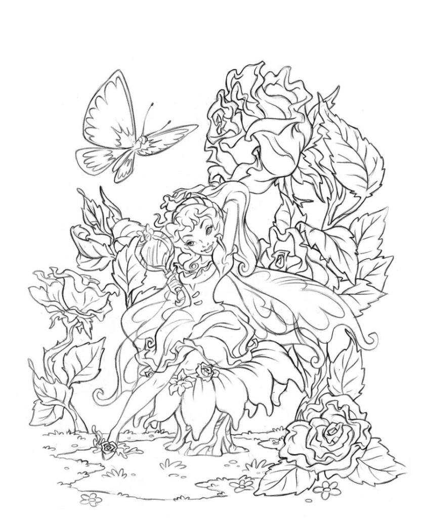 naughty fairy coloring pages coloring pages