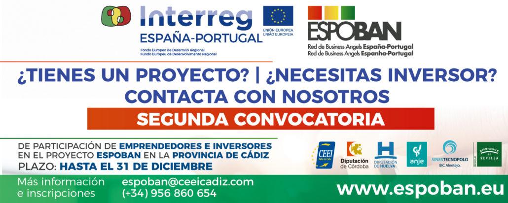 Segunda convocatoria de participación de emprendedores en el Proyecto Espoban en la provincia de Cádiz