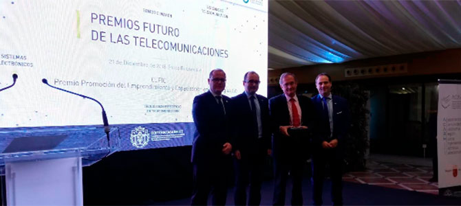 ElCentro Europeo de Empresas e Innovación de Cartagena (CEEIC), galardonado por COGITTRMyACARMITTen losPremios 'El Futuro de las Telecomunicaciones'