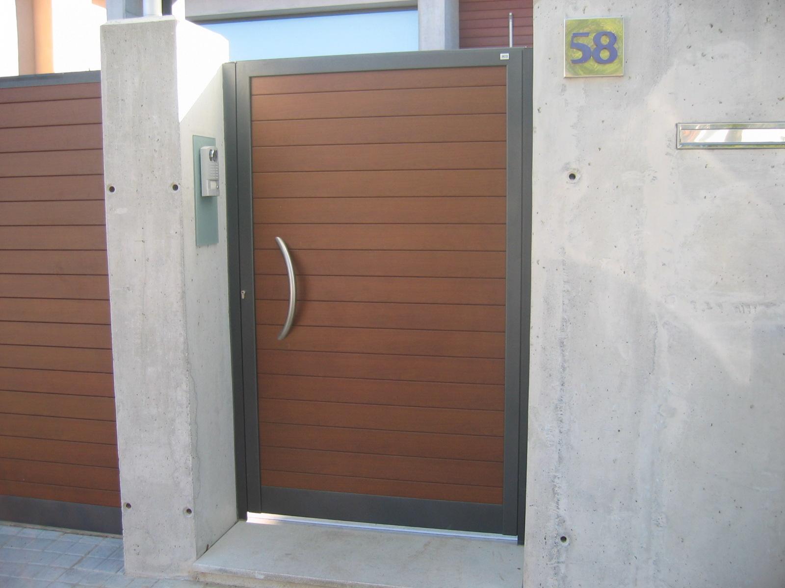 Ancesa puerta de aluminio para la entrada del jard n - Puertas de valla ...