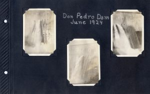 Photo album page of three photos of Don Pedro in June 1924