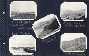 Photo album page, five photos of Santa Barbara and Ventura counties