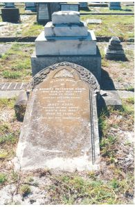Maitland Cemetery Plot Card