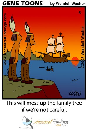This will mess up the family tree if we're not careful. (Genetoons Cartoon #009)