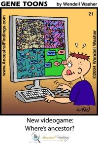 New Video Game: Where's Ancestor? (Genetoons #21)