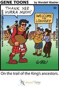 On the trail of the King's ancestors- (Genetoons #033)