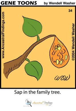 Sap in the Family Tree (Genetoons #34)