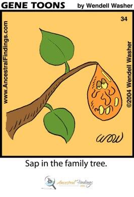 Sap in the Family Tree (Genetoons #34)