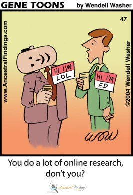 You do a lot of online research, don't you? (Genetoons #47)
