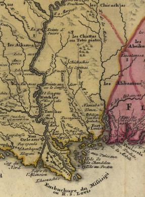 State of Mississippi Ancestral Trackers Maps 1756 Map of Mississippi