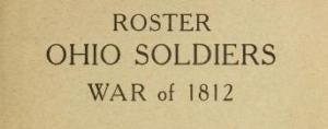 roster ohio soldier war of 1812