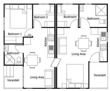 Duplex-Cabin-Plan