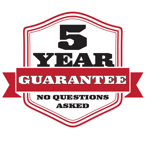 Anchor Irons 5 Year Guarantee