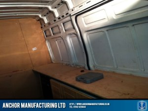 Catering vehicle internal kitchen fabrication.