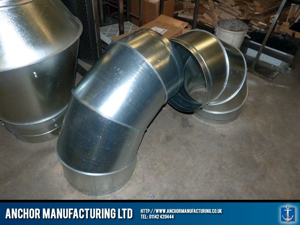 U Bend Extraction Ducting Anchor Manufacturing LTD
