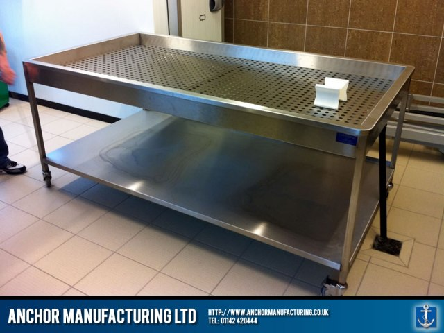 Mortuary tables and autopsy equipment | Anchor Manufacturing LTD