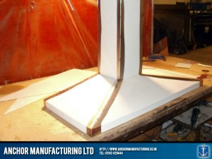 Stainless steel kitchen canopy hood.