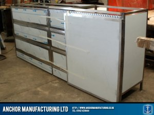 Fabricated shop counter.