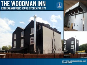 The Woodman Inn - Kitchen canopy extraction project.