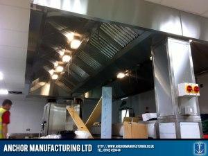 Sheffield Steel kitchen canopy installation.
