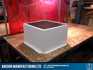 Air input ventilation box frame.