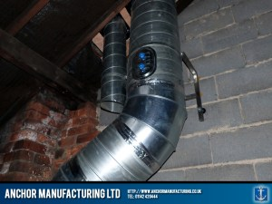 Internal air extraction ducting.